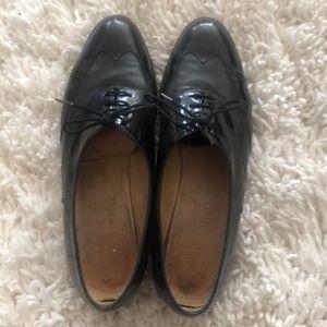 Salvatore Ferragamo Black Patent Loafer 7